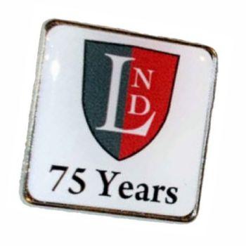 35mm premium silver badge